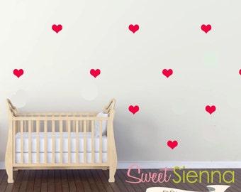 Love Heart wall decals, Heart decal, Heart wall sticker, nursery wall decal, wall decals, wall stickers, vinyl wall decal stickers  x 40