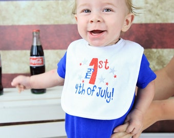 My First 4th of July Terry Bib