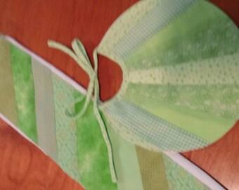Light Green Pieces Burp Cloth and Bib Set