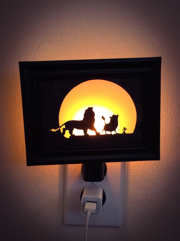 lion king inspired night light. Black Bedroom Furniture Sets. Home Design Ideas