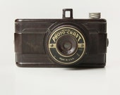 Brown Bakelite DELUX PHOTO CRAFT Camera- 1940's Made in Chicago