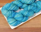 Mallorn Nights on Tendril, Merino Fingering Weight Hand-dyed Yarn