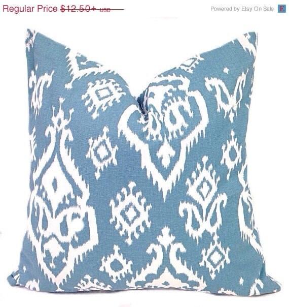 Big Blue Throw Pillows : BIG SALE Blue Decorative Pillow Pillows Pillow by ThePillowFight
