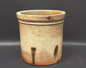 SALE - Antique Salt Glaze Crock, Monmouth Pottery Co.