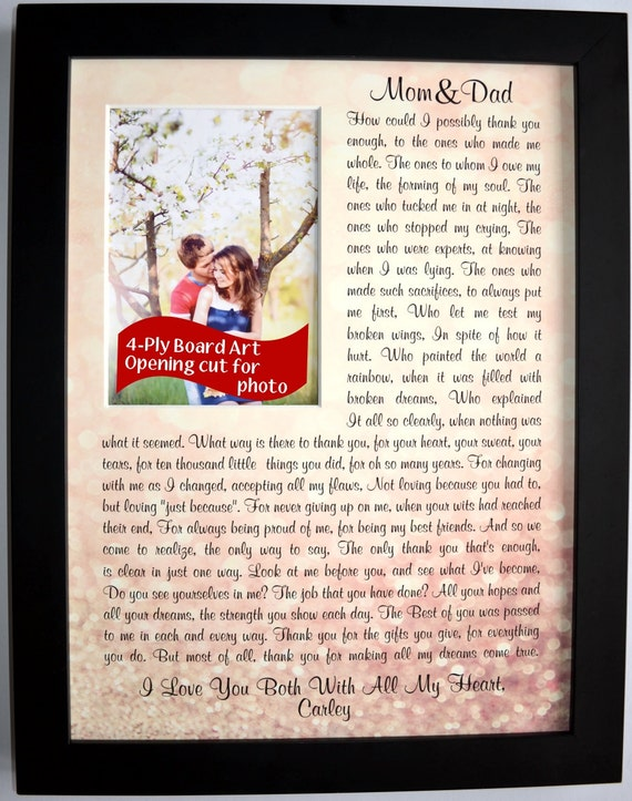 Thank You Gifts For Parents On Wedding Day : Gifts For Parents On Wedding Day: Thank You Gift Wedding Gift For ...