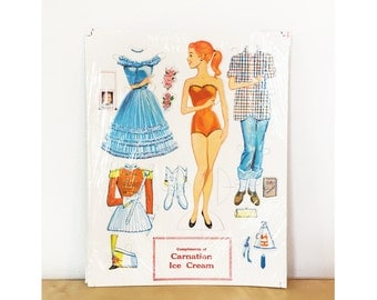 1950s Paper Doll from Carnation Ice Cream