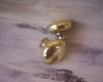 Gold drawer knob/Vintage door knob/Furniture salvage/Metal salvage/Salvage drawer knob/Door knob/Fathers day supplies/cabinet door knobs
