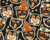 Cattastic by Blend Fabrics Maude Asbury - Halloween Fabric - Quilt Fabric - Spooktacular Eve - Black Cats Halloween Fabric