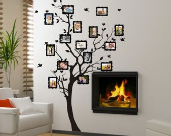 Pochoir arbre etsy fr for Baum an die wand malen
