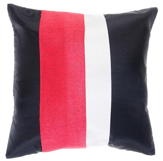 Avarada 16X16 Striped Rainbow Throw Pillow Cover by