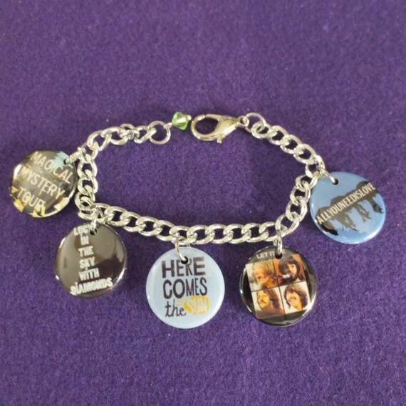 Beatles Charm Bracelet: Beatles Different Songs Charm Bracelets By SharynKBeatlecrafts