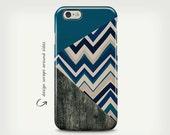 iPhone 6s Case, Chevron Pattern, iPhone 6 Plus Case, Wood Case, Navy Blue, iPhone SE Case, iPhone 7 Case, Galaxy S8 Case, Galaxy S8 Plus