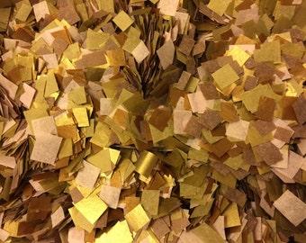 Biodegradable Wedding Confetti - Metallic Copper Metallic Gold Pink Wedding Confetti /Copper Blush and Gold / Fall Winter Wedding