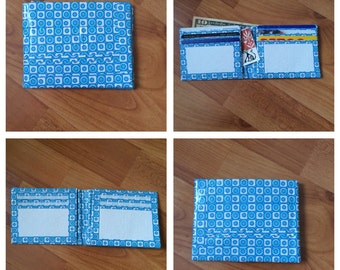 Blue and White Duct Tape Wallet