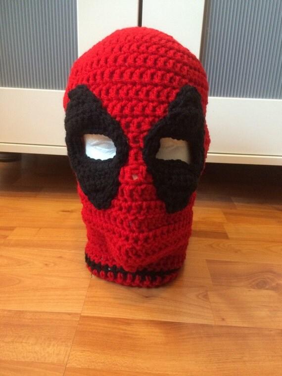 Deadpool Knitting Pattern : Crochet Deadpool Ski Mask