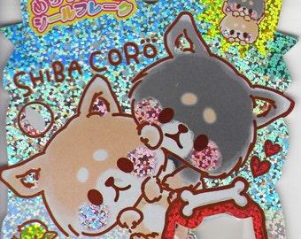 Kamio Japan kawaii SHIBA CORO 61pcs stickers flake/dogs