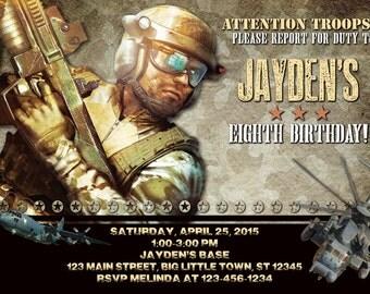 Military Birthday Invitation