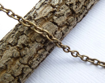 Antiqued Gold Tierracast Unfinished 2 x 3mm Cable Chain...  Choose Your Footage