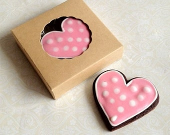 Small Kraft Brown Cookie Box for 1-2 Cookies