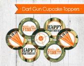 Dart Gun Cupcake Toppers - Instant Download