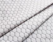 SALE! 1/4m Urban Patch - Leaves - Grey - Monaluna Organic Cotton
