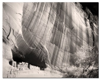 Black And White Photography, White House Ruins, Ancient  Pubelo Peoples, Canyon De Chelly Arizona, Fine Art Photography