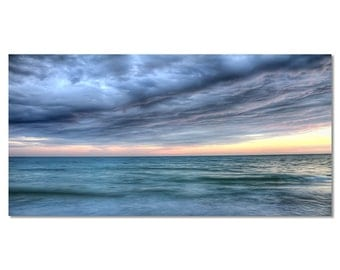 Beach Photography, Pastel Colors, Siesta Key Florida, Fine Art Photography, Large Wall Art, Dramatic Sky Photo