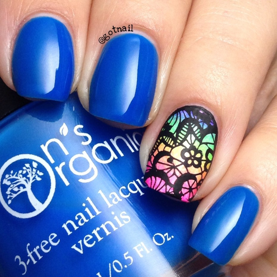 Neon Blue Nail Polish: Enchanting 5 Free MATTE Neon Dark Blue Nail Polish Glow In