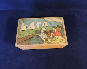 Vintage French boxed set of Jue de Loto, BINGO