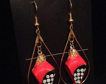 18K Gold Lily bell Teardrop