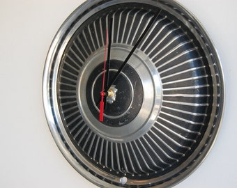 SALE****1965 Mercury Hubcap Clock