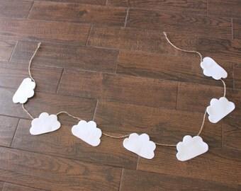 Fluffy Cloud Felt Garland