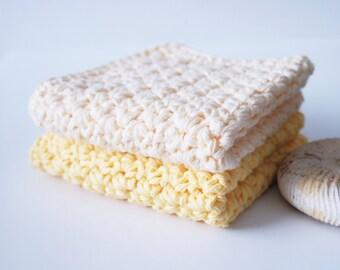 Dish Cloth . Crochet Cotton Dish Cloth . Set of Two . Ready to ship