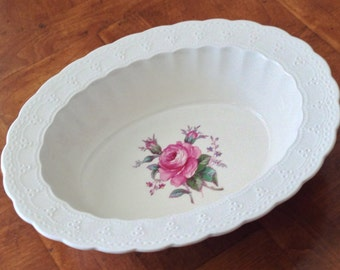"Spode ""Billingsley Rose"" Oval Serving Bowl"