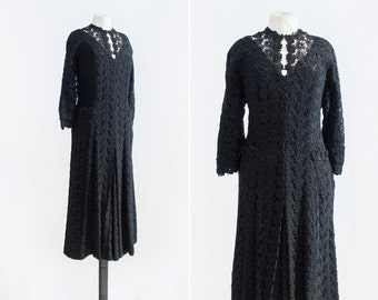 30s Crying Chapel Dress  •  1930s lace dress