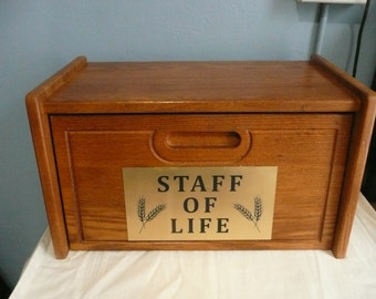 Solid Wood Breadbox Upcycled Plaque