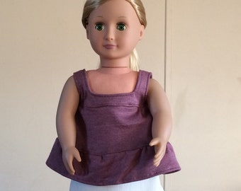 "18"" Doll Cream Skirt with Tank Top"