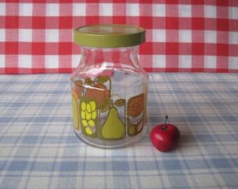Fruit Jar - Coffee Jar - Promotional Canister - Vintage 1970's