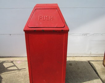 Industrial Metal Large Trash Can, Waste Can,
