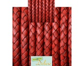 DL06101 - 0,40 meter x 6,00mm Braided Leather Cord