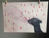 Whippet Geometric Print