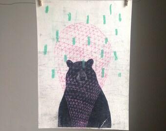 Bear Geometric Print