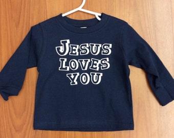 Jesus Loves You Kids Shirt