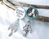 Bells Winter White Ale Beer Bottle Cap BEERings Recycled Michigan Jewelry Upcycled Earrings