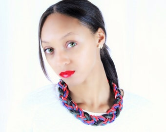 Hand Braided Arborist Rope Statement Necklace