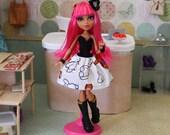 "Howleens's ""Bashful Baymax"" Big Hero 6 Print Sweetheart Dress (Fits Monster High & Ever After High Dolls)"