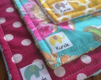 Wild WaterColor - Baby Burp Cloth Set of 3
