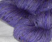 SALE! 30% off Can't get enough Purple on Mad Tweed 2-ply fingering 85/15 SW merino and NEP
