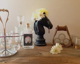 Vintage Mid Century Equestrian Bar Set