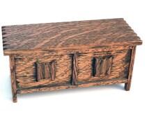 Vintage English Miniature Coffer Blanket Box